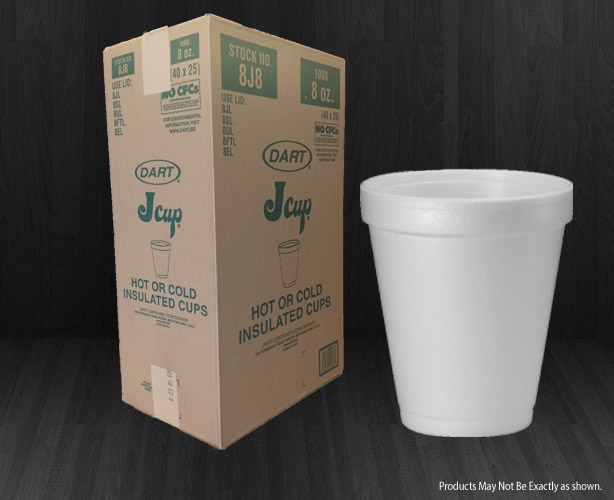 Dart® Foam Cups 8oz. (225mL) 1000/cs-2